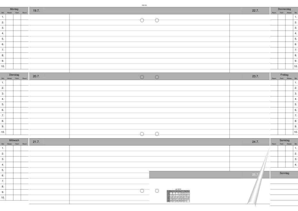 Schulplaner/Lehrerkalender | paul-matthies.de