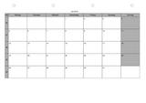 Monatsplaner mit Ferien- und Feiertagsübersicht